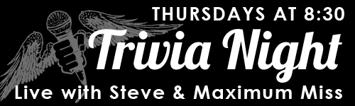 Trivia Night, Thursdays at 8